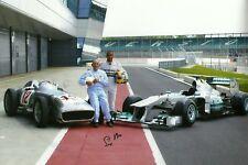 Stirling Moss Lewis Hamilton Silverstone F1 Grand Prix Mercedes signed photo