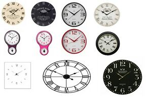 Large Vintage Wall Clock Kitchen Living Room Home Office Clock Modern New.