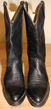 Bottes boots cowboy western santiags homme DOUBLE-H  P 42 cuir noir made in USA