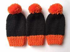 Hand knitted Fishing Bite Alarm Covers - Black And Orange / Carp Fishing Gift