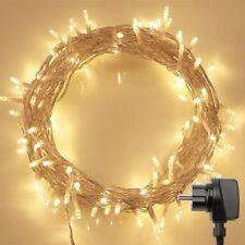 100 LED Lichterkette außen Stecker /Timer /Fernbedienung für Weihanchtsdeko 11M