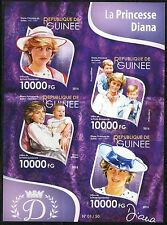 GUINEA 2015 DIANA, PRINCESS OF WALES, SHEET IMPERFORATE  MINT NH