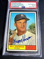 """BILL """"MOOSE"""" SKOWRON, AUTHENTIC PSA/DNA CERTIFIED AUTOGRAPH,TOPPS #371, 1ST BASE"""