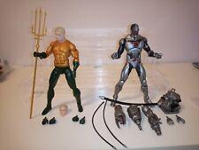 "DC comics Collectibles Icons Legends of Aquaman & Cyborg 6"" Action Figure lot"