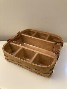 Longaberger Basket 14x14x4 with partition