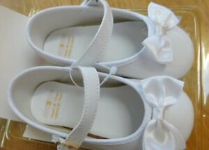 """Vintage 1996 """"Honors"""" Baby Infant Girls White Shoes~Size 3 NEW 6-9 Months"""