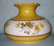 "Vintage Milk Glass GWTW Oil Electric Hurricane LAMP SHADE 10"" Fitter Ruffled Rim"