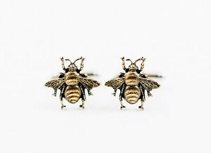 Honey Bee Cufflinks--Bees Insect Forest Woodland Wildlife Nature Animal Garden