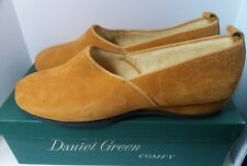 Vintage Daniel Green Comfy Suede Apres Shoe Slipper Sz B85 Gold Orig Box