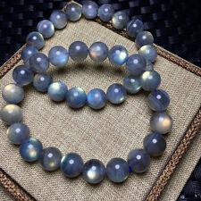 Natural Ice Labradorite Rainbow Light Round Beads Bracelet 10mm AAA
