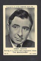 A & B C GUM - FILM AND TV STARS, 3 - #111 ROBERT NEWTON, THE BEACHCOMBER