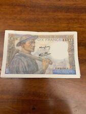 Billet 10 Francs Mineur 1944 et 1945 Sup+