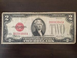 Two Dollar Bill - Red Seal - 1928
