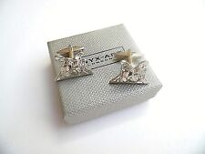 "Drummer's gift ""DRUM KIT"" Silver Style METAL Cuff Links in a GIFT BOX - NEW"
