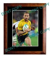 QUADE COOPER AUST WALLABIES 2011 WORLD CUP A3 PHOTO 1
