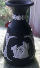 WedgeWood Black And White Bud Vase Perfect Condition