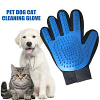 Pet Grooming Glove Deshedding Brush Mitten Brush Dog Cat Hair Remover Mitt #D