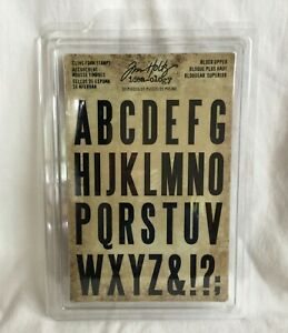NEW Tim Holtz Idea-ology Cling Foam Stamps - Block Upper - 31 Pieces