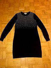 Michael Kors Women's Black Beads Decorated Long Sleeve Sweater Dress Size M