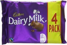 Cadbury Dairy Milk 4 Chocolate Bar (Pack of 15)