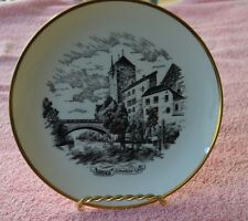 OTTLINGER SEVELEN SUISSE SENIC GOLD RIMMED PLATE FROM SWITZERLAND