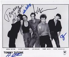 Tommy Tutone signed photo entire band early 80s super rare 867-5309