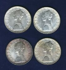 """ITALY 500 LIRE  """"COLUMBUS""""  SILVER COINS: 1958, 1959, 1960, & 1961, UNCIRCULATED"""