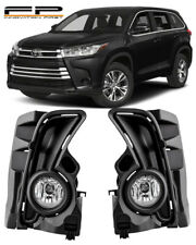 2017-2019 TOYOTA HIGHLANDER Fog Light Driving Lamp Kit w/ switch wiring (CLEAR)