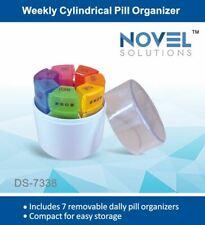 Weekly Cylindrical 7 Day Pill Organiser Travel Medicine Holder