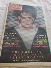 THE CURE - RAM-OZ MUSIC MAG-1987- WIRE - HUSKER DU - ROCKMELONS - PETER KOPPES