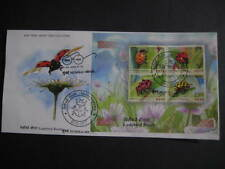 Beautiful India 2017 First Day Cover on Ladybird Beetle MS with brochure
