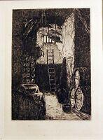 Original HENRI CHARLES GUERARD Impressionist Etching Printed in 1874 in Paris #2