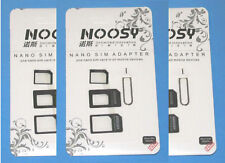 9  SIM ADAPTERS  -3 Complete  NOOSY SIM Kits -Nano Micro Card iPhone Samsung HTC