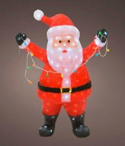 Kaemingk LED Light Up Standing Santa Christmas Garden Decoration 180 LEDs
