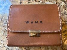 Mark Cross Burden (Vanderbilt) Pigskin Toiletry Kit original vintage pigskin