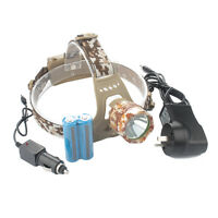 10000LM CREE XM-L T6 LED Headlamp Headlight Lamp+AU Charger+2x18650 Battery Sets