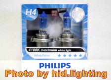 Genuine Philips WhiteVision White Vision H4 4100K headlight 12342WHV light 55w