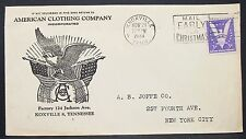 American Clothing Company Patriotic US COVER Knoxville era STAMP USA lettera y-543