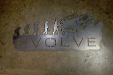 EVOLVE Jeep Evolution Metal Wall Art Hanging Home Decor Man Cave CJ TJ YJ JK