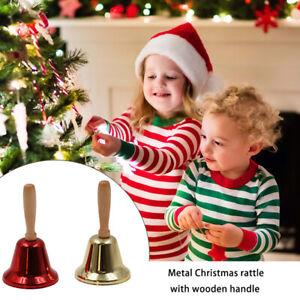 Christmas Hand Jingle Bells Handheld Celebrate Festivel Instrument Musical Toy^