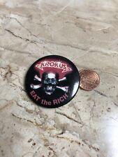 Vintage Krokus hard rock heavy metal band Switzerland pin button Chris von Rohr