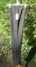 Rebecca Moses Collection Grey Wool Wide Leg Lined 3 seasons PANTS Italy nwt 42/6