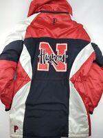 Vintage Pro Player Nebraska Huskers Full Length Jacket Size XL Starter Type Coat