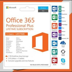 ✅🔥 Microsoft Officé365 2019 Pro Plus Account With 5 Devices And 5TB ✅🔥