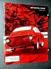 SCCA Sports Car 1968 Dick Corson Fiat Abarth 1000 Cover, SCCA Annual Convention