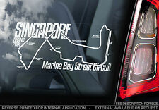 Singapore GP Circuit - Car Window Sticker -Marina Bay Street Track Grand Prix F1