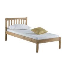 Porto Bed Frame - Single 3ft - Wood Headboard - Wooden Bedroom Simple Elegant