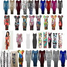 Full Length Polyester Crew Neck Floral Dresses for Women