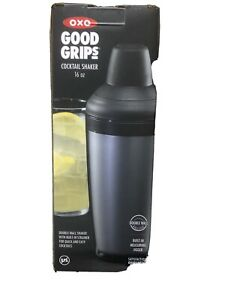 OXO Good Grips 16oz Cocktail Drink Shaker Double Wall Insulated BPA Free NEW!!!!