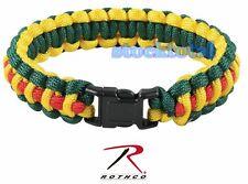 "BRAZALETE PULSERA PARACORD Rothco Multi-Colored Paracord Bracelet 941 RT 4,8"""
